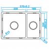 Caressi Basic Line RVS spoelbak 39x57 vlakbouw onderbouw opbouw CABL3318R15 1208920571