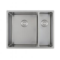 Caressi dubbele spoelbak CAPP3415R10 B34+B15xL40xD18.5cm naadloze plug 1208920660