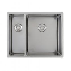 Caressi dubbele spoelbak CAPP1534R10 B15+B34xL40xD18.5cm naadloze plug 1208920661