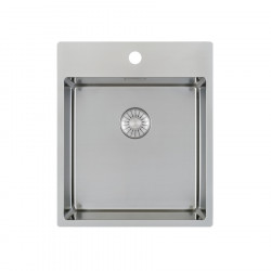 Caressi spoelbak CAPP40KR10 B40xL40xD18.5cm naadloze plug