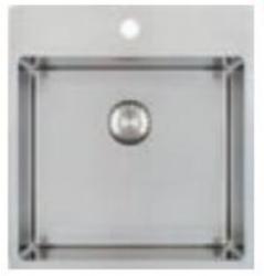 Caressi RVS spoelbak met kraangat CAPP45KR10 B45xL40xD18.5cm naadloze plug 1208920667
