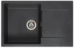 Reginox Amsterdam 78 Regi-graniet spoelbak zwart opbouw L8078-BS R32756
