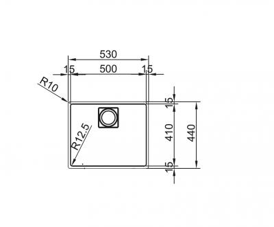 Franke spoelbak KWC ZOE 210-50 Vlakinbouw 127.0514.621