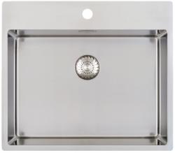 Caressi RVS spoelbak met kraangat CAPP55KR10 B59xL52xD18.5cm naadloze plug 1208921190