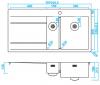 Caressi RVS 1,5 Spoelbak rechts met afdruip links CAPP1534ABR B101xL52 opbouw onderbouw en vlakinbouw 1208921301