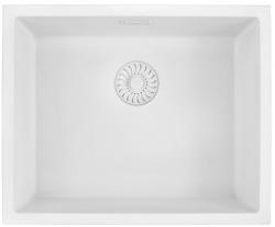 Caressi White Line wit  Quartz spoelbak 50cm opbouw of onderbouw CAGRPP50WH-TU 1208921343