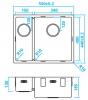 Caressi 1,5 rvs spoelbak CA1534R10  B15+B34xL40xD18.5cm onderbouw opbouw of vlakbouw 1208921377