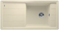 Blanco Faron enkele spoelbak met spoeltafel in jasmijn XL 6 S - 524808