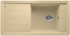Blanco Faron enkele spoelbak met spoeltafel in champagne XL 6 S - 524809
