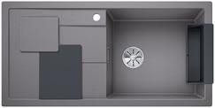 Blanco Sity enkele spoelbak met spoeltafel in alumetallic XL 6 S - 525050
