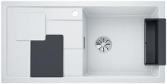 Blanco Sity enkele spoelbak met spoeltafel in wit XL 6 S - 525051