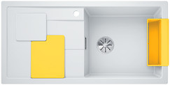 Blanco Sity enkele spoelbak met spoeltafel in wit XL 6 S - 525055