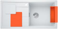 Blanco Sity enkele spoelbak met spoeltafel in wit - orange XL 6 S - 525059