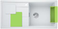 Blanco Sity enkele spoelbak met spoeltafel in wit - kiwi XL 6 S - 525063