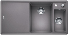 Blanco Axia III 6 S - 1.5 spoelbak met spoeltafel in alumetallic - glazen snijplank - 523474
