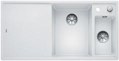 Blanco Axia III 6 S - 1.5 spoelbak met spoeltafel in wit - glazen snijplank - 523477