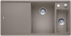Blanco Axia III 6 S - 1.5 spoelbak met spoeltafel in tartufo - glazen snijplank - 523480