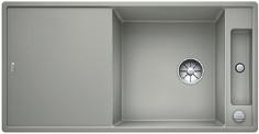 Blanco Axia III XL 6 S - spoelbak met spoeltafel in parelgrijs - snijplank in essenhout - 523503