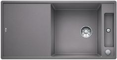 Blanco Axia III XL 6 S - spoelbak met spoeltafel in alumetallic - glazen snijplank - 523512