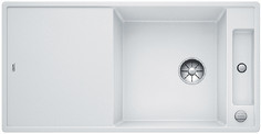 Blanco Axia III XL 6 S - spoelbak met spoeltafel in wit - glazen snijplank - 523514