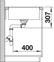 Blanco Axia III XL 6 S-F - spoelbak met spoeltafel in antraciet - snijplank in essenhout - 523520