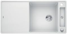 Blanco Axia III XL 6 S-F - spoelbak met spoeltafel in wit - glazen snijplank - 523529