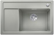 Blanco Zenar XL 6 S compact - enkele spoelbak en spoeltafel met draaiknopbediening in parelgrijs - BR - 523777