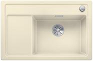 Blanco Zenar XL 6 S compact - enkele spoelbak en spoeltafel met draaiknopbediening in jasmijn - BR - 523779