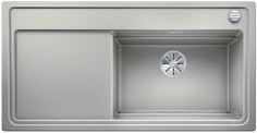 Blanco Zenar XL 6 S StreamerPlus - enkele spoelbak en spoeltafel met draaiknopbediening in parelgrijs - 524055