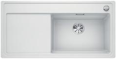 Blanco Zenar XL 6 S-F StreamerPlus - enkele spoelbak en spoeltafel in wit - snijplank in essenhout- 524101