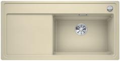 Blanco Zenar XL 6 S-F StreamerPlus - enkele spoelbak en spoeltafel in jasmijn - snijplank in essenhout- 524102