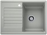 Blanco Zia 45 S Compact - enkele spoelbak met spoeltafel in parelgrijs - 524724