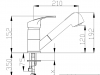 DEMM keukenkraan met uittrekbare uitloop met spoeldouchefunctie chroom 1208947359