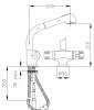 DEMM thermostatische keukenkraan met uittrekbare uitloop met spoeldouchefunctie chroom 1208947360