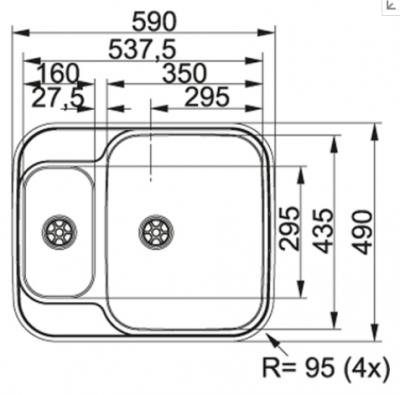 Franke spoelbak Bellissimo BEX 260 vlak inbouw 1270174685