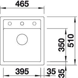Blanco spoelbak Dalago 45 opbouw wit 517160