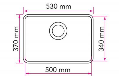 Stala Combo rvs spoelbak onderbouw vlakinbouw en opbouw PS50 709075