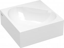 Clou Flush hoekfontein (flush 5) zonder kraangat met plug wit keramiek PhotoFreestanding