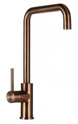 Ausmann Elbe Square keukenkraan PVD copper met draaibare uitloop 1208952363