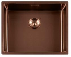 Ausmann Elbe RVS spoelbak PVD Copper 50x40 onderbouw vlakbouw en opbouw 1208952369