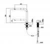 Cisal venster keukenkraan 2-gats met uittrekbare uitloop vervanger van blanco 516671 1208952417