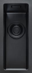 ABK Bingara BIN15fBL zwart emaille kleine spoelbak onderbouw met zwarte plug 1208952447
