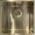 Ausmann Mosel RVS spoelbak goud kleur PVD Gold 40x40 onderbouw vlakbouw en opbouw 080914