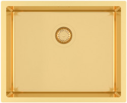 Ausmann Mosel RVS spoelbak goud kleur PVD gold 50x40 onderbouw vlakbouw en opbouw 1208952979