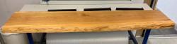 OUTLET Boomstam wastafelblad massief eiken kleur Pure 200cm incl. verdekte bevestiging met beugels 1208782032