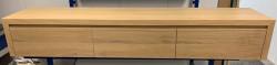 OUTLET TopLine Delft massief eiken badmeubel met 3 laden greeploos 223x50x35cm kleur naturel
