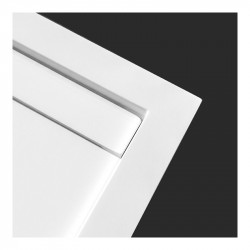 OUTLET Solid Linear 26 doucheplaat met drain wit 160x90cm 1208953062