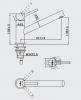 RN Inox rvs lage keukenkraan draaibare uitloop volledig geborsteld RVS 1208953354