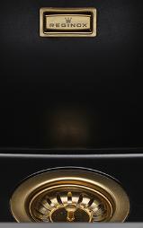 Reginox Korfplugset Gold met overloop tbv Texel en Amsterdam 1208953360