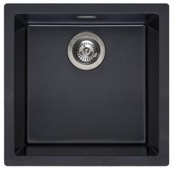 Reginox Amsterdam 40 Regi-graniet spoelbak Pure black zwart onderbouw en opbouw 1208953362